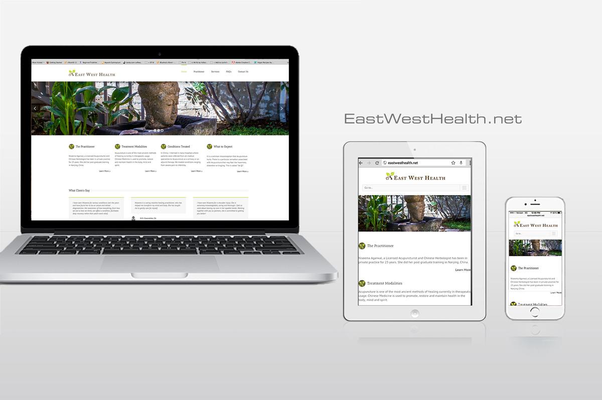 WordPress website for EastWestHealth.net